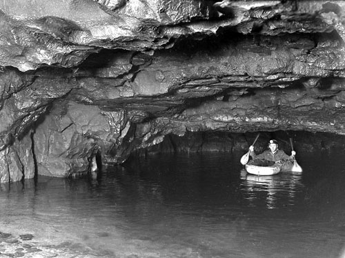 Rubber Dinghy in Dan yr Ogof Lake